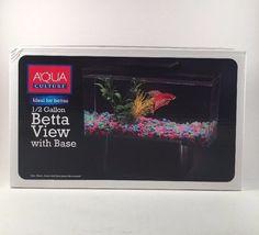Plastic 1/2 Gallon Betta Fish Tank with Removable Divider Betta/Small Fish #AquaCulture