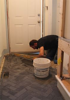 Black Slate Floor Suzanne's Basement Reno: Drywall Phase | House & Home