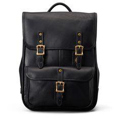 Continental Luxury Backpack | Black Leather | J.W. Hulme Co.