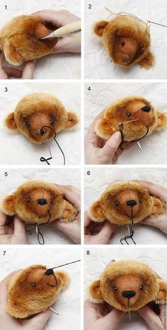 Teddy Bear sewing tutorial / Создание интерьерного мишки Шани - Ярмарка Мастеров - ручная работа, handmade