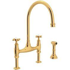 RU4718XIB2 Perrin & Rowe Two-Handle Kitchen Faucet - Inca Brass