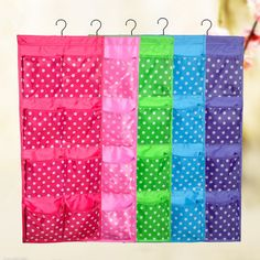 Free shipping Washable 12 Pockets Double Side Over the Door Jewelry Sundries Underwear HangingStorage Bag Organizer