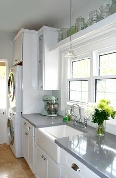 Image Result For Gray Corian Countertops With White Cabinets