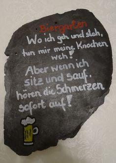Schiefer Tafel Deko Schiefertafel Garten Geschenk Männer Geburtstag Geburtstagsgeschenk Mitbringsel Spruch Bier Biergarten lustig Alter