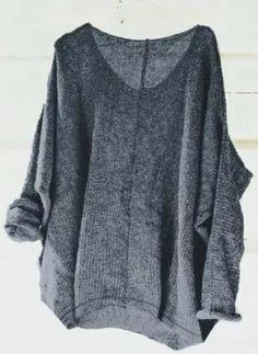 21d6f06ac53 V-Neckline Solid Loose Regular Sweaters (1260292) Neue Modetrends