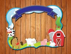 Farm themed party photo frame by wishboxparty on Etsy Farm Animal Party, Farm Animal Birthday, Farm Birthday, 3rd Birthday Parties, Farm Themed Party, Farm Party, Party Photo Frame, Bible School Crafts, Party Themes