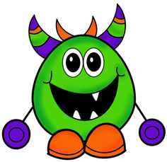 Little monster clipart 2 Cartoon Monsters, Scary Monsters, Cute Monsters, Little Monsters, Monster Coloring Pages, Animal Coloring Pages, Monster Theme Classroom, Monster Clipart, Little Monster Party