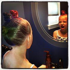 Crazy Hair Day ~ mohawk ~ rainbow