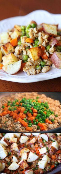 Easier Shepherd's Pie with Roasted Potatoes.