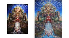 Su estilo surrealista está inspirado en las experiencias rituales de tribus indígenas (básicamente lo que uno ve cuando se pone con hongos y peyote).