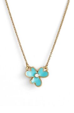 kate spade new york 'pansy blossoms' clover pendant necklace available at #Nordstrom