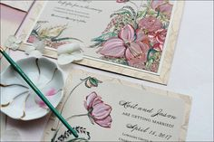 Hand Printed Wedding Invitations