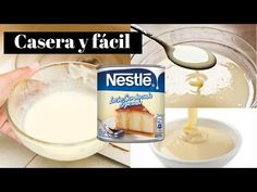 leche condensada con 3 ingredientes muy fácil! - YouTube Yogurt, Sugar Free, Oatmeal, Make It Yourself, Breakfast, Dip, Youtube, Videos, Deserts
