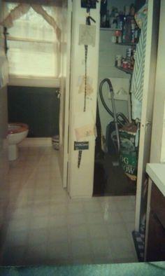 The old half bath & pantry