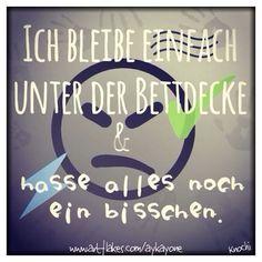 ⏰ Ich bleibe einfach unter der #Bettdecke und #hasse alles noch ein #bisschen  #früh #müde #bett #wo bist #du ✌️
