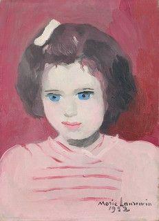 Marie Laurencin (French) Portrait d' Anne Sinclair enfant Art Français, 2d Art, Artist Art, Woman Painting, Painting & Drawing, Matisse, Anne Sinclair, Georges Braque, Best Portraits