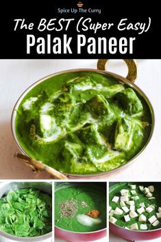 Looking for easy to make yet delicious restaurant style palak paneer recipe? This is the BEST Punjabi palak paneer recipe I have ever made Veg Dinner Recipes, Veg Recipes, Curry Recipes, Cooking Recipes, Healthy Recipes, Best Paneer Recipes, Recipies, Cooking Tips, Paneer Dishes