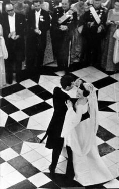 HM Queen Margrethe II of Denmark and Prince Henrik on their first dance as husband and wife. Royal Wedding Gowns, Royal Weddings, Wedding Dresses, Best Wedding Dance, Wedding Day, Surprise Dance, Queen Margrethe Ii, Danish Royalty, Dance Humor