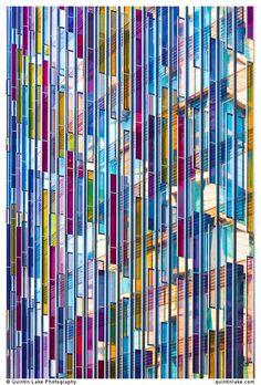 Park Plaza Hotel coloured glass facade, Westminster Bridge, London