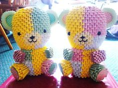 Quilted teddy bear <3 <3 <3 <3