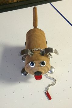 assemblage dogs, wooden dogs, folk art dogs, dog sculptures, dog assemblage, gifts for dog lover, robot sculpture, robot dogs - Woody