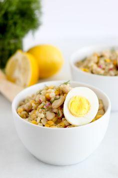 barley and white bean bowl