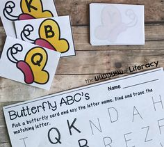 Try this Butterfly Alphabet Match & Trace; a preschool literacy activity perfect for a classroom, group setting, or one on one at home.
