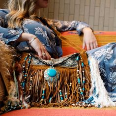 Blue boho vibes. Dress - freepeople, purs - Alisobay.  Boho style dress and purse in blue and turquoise.