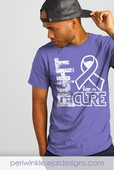 Esophageal Cancer, Anorexia, Bulimia, Binge Eating, Eating Disorders, Periwinkle, Awareness, Pulmonary Hypertension, Stomach Cancer, Tshirt