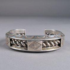 Navajo silver bracelet c 1950