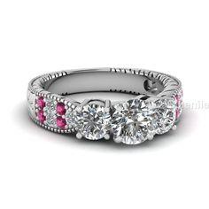 3.01 ct White simulated diamond fine fashion ring for women's in 925 silver…