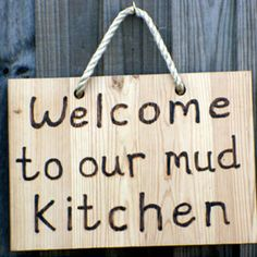 Image result for mud kitchen sign
