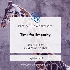 One week of online workshops promoting empathic listening and Nonviolent Communication (NVC) offered for free by trainers from all over the world! Learn empathic communication with us, look at empathy from different perspectives and become part of the NVC community which inspires and supports each other! #timeforempathy #empathy #nonviolentcommunication Nonviolent Communication, Empathic, Trainers, Workshop, Community, English, Learning, Free, Tennis