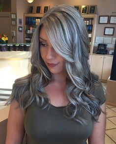 My gray hair #grayhair #gray #silver #grannyhair #balyage instagram @tarynrose107