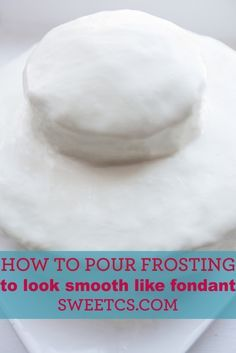 Such an awesome trick- pour canned frosting to look smooth like fondant!