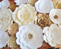 15 Large Paper Flowers Multicolour with by DreamEventsinPaper