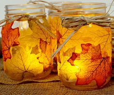 Leaf Mason Jar Candleholder