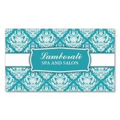 Elegant Professional Damask Floral Pattern Salon Double-Sided Standard Business Cards (Pack Of 100). I love this design! It is available for customization or ready to buy as is. All you need is to add your business info to this template then place the order. It will ship within 24 hours. Just click the image to make your own!