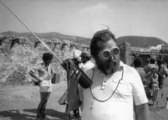 Sergio Leone on set