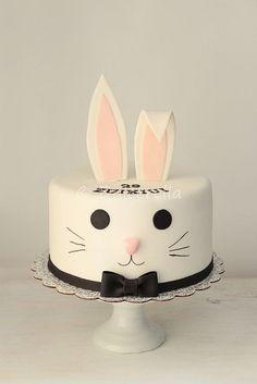 Mr Rabbit Cake   Flickr - Photo Sharing! Rabbit Cake, Bunny Rabbit, Girly Cakes, Fancy Cakes, Bunny Party, Carrot Cake, 70th Birthday, Birthday Cakes, Custom Cakes