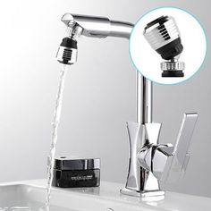New 360 Rotate Swivel Faucet Nozzle Torneira Water Filter Adapter Water Purifier Saving Tap Aerator Diffuser Kitchen Accessories Water Faucet, Water Tap, Save Water, Water Flow, Kitchen Shower, Kitchen Taps, Kitchen Fixtures, Bathroom Fixtures, Kitchen Appliances