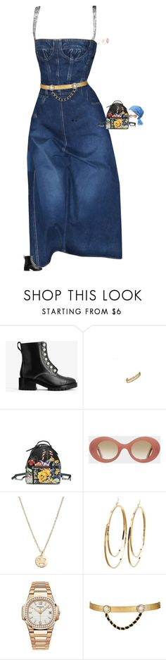 """Untitled #3542"" by stylebyfashionmerger ❤ liked on Polyvore featuring 3.1 Phillip Lim, Fendi, Cutler and Gross, Bing Bang, Charlotte Russe, Patek Philippe and Maison Mayle"