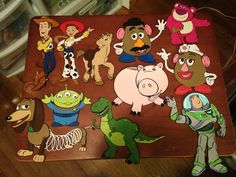 Set of 11 Toy Story Die cuts by ScrappinBJs on Etsy