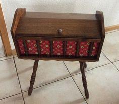vintage n hkasten 60er jahre in holz von frolleinschnickschnack auf 60iger. Black Bedroom Furniture Sets. Home Design Ideas