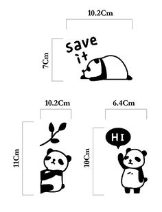 MochiThings.com: Panda Wall Switch Stickers