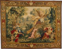 René Antoine Houasse (French, 1645–1710). Boreas and Orithyia from a set of scenes from Ovid's Metamorphoses, designed ca. 1690, woven before 1730. The Metropolitan Museum of Art, New York, Gift of Francis L. Kellogg, 1977 (1977.435)   Research Assistant Sarah Mallory describes the tools and techniques weavers have used to create these rare works of art. #tapestrytuesday