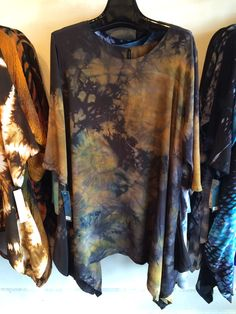 Medium Silk Crepe Multi Earth tones layers painted and board clamped very nice depth