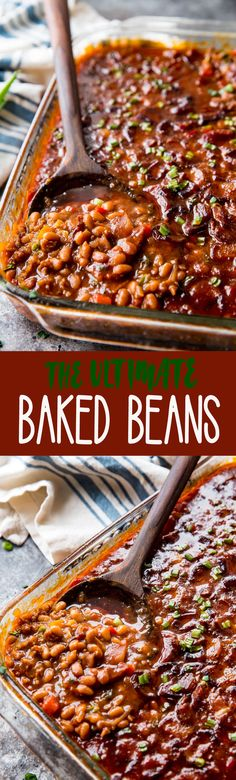 The Ultimate Easy BBQ Baked Beans Easy Baked Beans: These easy baked beans are the ultimate side dish, so flavorful, delicious, and easy to make. Easy Baked Beans, Baked Bean Recipes, Beans Recipes, Vegetable Side Dishes, Vegetable Recipes, Brunch, Good Food, Yummy Food, Frijoles
