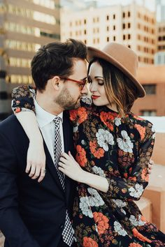 This OKC engagement shoot is brimming with style | Image by Rachel Photographs