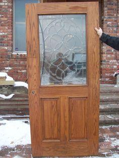 OAK Bevel Glass Entry Door (D 3)